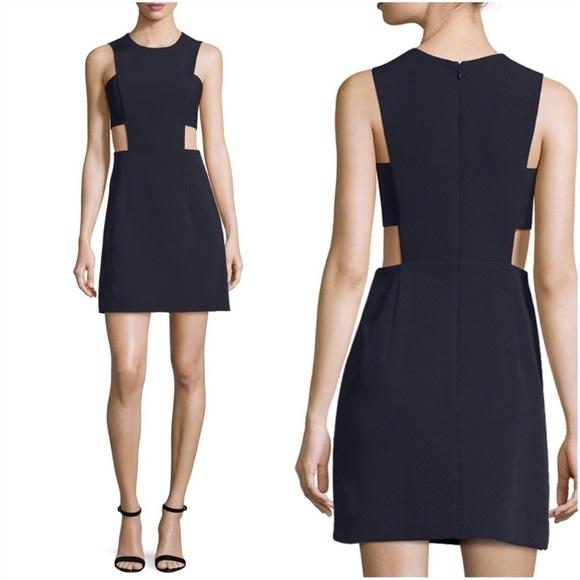 Milly of New York Dresses & Skirts - EUC MILLY Italian Cady Black Cutout Mini Dress